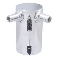 "0.5L Polished 19mm 3/4"" Barb Aluminum Oil Catch Tank universal reservoir silver"