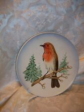 *Chipped* Goebel West Germany Wildlife Robin Bird Wall Plate 1973 First Edition