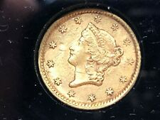 1853 $1 90% Gold Us Collectible Coin, Liberty Head Dollar