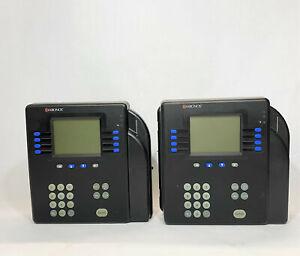 Lot of 2 Kronos System 4500 Biometric Time Clock 8602004-002 *Parts*