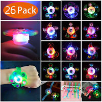 26Pcs LED Party Favor Spin Relief Anxiety Toy Light Up Glow Flashing decora Gift