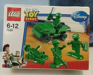 LEGO TOY STORY GREEN ARMY MEN SOLDIER SET 7595 BRICKS BUILD TOY NEW SEALED