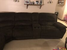 used sectional couch 6pc suade microfiber Cindy Crawford raymore &Flanagan