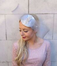 Silver Grey Bow Fascinator Teardrop Races Wedding Headband Headpiece Hair 4390