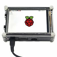 Raspberry Pi 3 and Pi 2 HD 3.5 inch TFT LCD Touch Screen with 9 Layers Case