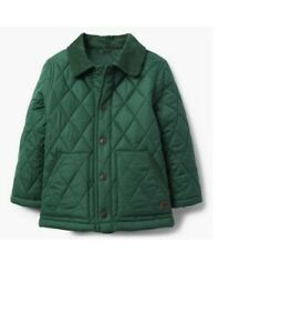 Janie & Jack 2018 Fall - Green - Boys Quilted Jacket - Size 7 / 8 - RP $89 NWT