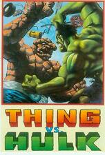 Marvel Comics postcard: thing vs. Hulk (Matt wagner) (états-unis, 1992)