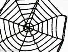 Gisela Graham Black Chenille Spider Web Halloween Horror Prop Indoor Decoration