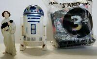 Vtg 1996 Taco Bell Star Wars Yoda/Darth Vader Toy & R2D2 W/Princess Leia Figure