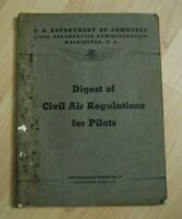 Digest Of Civil Air Regulations For Pilots 1941 - Vintage USA Dept Of Commerce