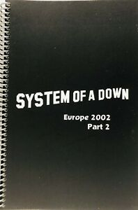 SYSTEM OF A DOWN Itinerary TOUR BOOK EUROPE 2002 Part 2  MINT CONDITION