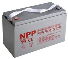 NPP NPG12-100Ah Rechargeable  Deep Cycle Gel RV Solar Off Grid 12V 100Ah Battery