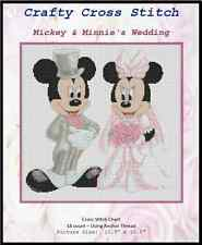 Counted Cross Stitch MICKEY AND MINNIE'S WEDDING, Pink- COMPLETE KIT #10-15 KIT