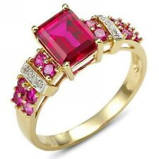 Nobby Women Ruby 18K Gold Filled Rare Band Fashion Size 8 Engagement  Rings