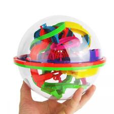Kids 100 Barriers 3D Labyrinth Magic Intellect Ball Balance Maze Perplexus Toys