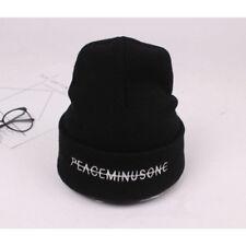 Kpop Bigbang GD G Dragon FXXK IT Peaceminusone Knit Hat Beanie Hat Unisex Black