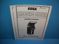 Sega SHOOTING MASTER VIDEO ARCADE GAME SERVICE INSTRUCTION MANUAL
