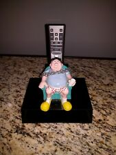 Vintage man chained to chair Television Remote control Caddy Banning