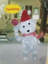 "32"" Lighted Glittering Christmas Polar Bear Christmas Decoration Yard Art"
