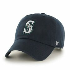 87d9b251 '47 BRAND Seattle Mariners Navy Basic Logo Clean up Game Adjustable Hat · '