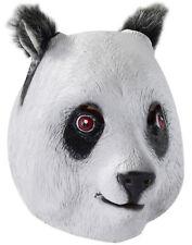 Charming White Panda Bear Mask Adult Latex Costume Accessory Unisex One Size New