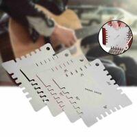 4Pcs Guitar Notched Radius Gauge Fingerboard Ruler Measure Luthier Tool
