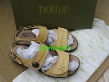 Hotter ALMA COMFORT CONCEPT Buttercup Yellow Open Toe Adjustable Sandals 4.5