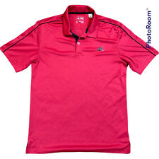 adidas Men's Climalite Solid Color block Polo Power Red/Black Small Polyester