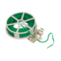 Garden Wire Green Twist Tie Reel PVC Coated Plant Support Flexible 30m