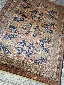 Beautiful handmade ANTIQUE Caucasian wool rug size 193 x 147cm