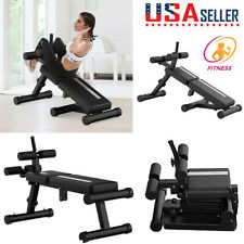 Adjustable Foldable Weight AB Bench Flat Incline Decline Home Gym Fitness Sit Up