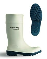 Dunlop Purofort Safety Wellies White Welly Wellington Boots Shock Absorbing UK 4