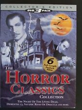 The HORROR Classics Collection 3 DVD Set LIKE NEW FAST SHIPPING