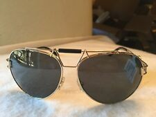 VERSACE Sunglasses VE 2160 1252/87 63-14 Gold & Black Aviator Frames NWT