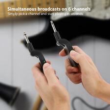 ammoon Wireless Guitar System 2.4G 6 Channels Transmitter Receiver Black J9O4