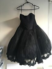 Ted Baker Black lace bodice fluffy drees BNWT Size 4 Wedding dress Bridesmaid