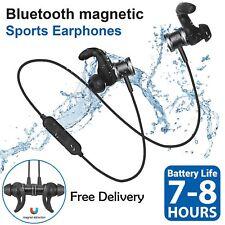 Waterproof Magnetic Wireless Bluetooth Sport Stereo Headphones Earphones Headset