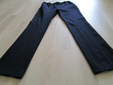 BODEN LADIES NAVY BLUE STRAIGHT LEGGED CASUAL TROUSERS W0084-SIZE 8 PETITE