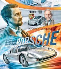 Ferdinand PORSCHE & 918 Spyder Concept Hybrid Sports Car Stamp Sheet (2012 Togo)