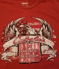 New listing Cabela's An American Tradition Eagle Usa Flag Red Graphic T-Shirt Size 2Xl