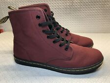 Dr Marten's Airwair Shoreditch Women's Maroon Canvas 7 Eye Boots Size-10