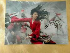 signed Liu Yifei Crystal Liu 劉亦菲 autographed photo poster MULAN 8*10 1120