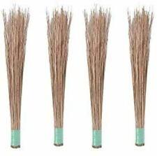 Natural Coconut Leaf Grass Broom Stick (Teela/Nariyal Jhadu) - Pack of 4