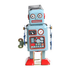 Clockwork Wind Up Metal Walking Robot Toy Retro Vintage Mechanical Kids Gift
