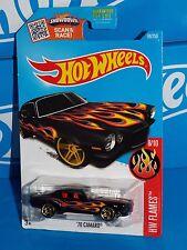 Hot Wheels Diecast 2016 HW Flames Series #98 '70 Camaro Black