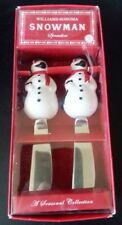 WILLIAMS-SONOMA CHRISTMAS SNOWMAN SPREADERS SET OF 2 - NEW IN PACKAGING