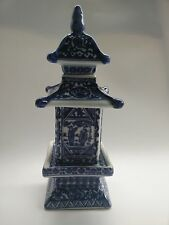 Collecting antique Chinese blue and white porcelain layered tower storage jar