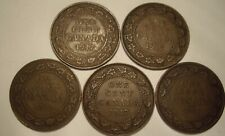 Canada George V 1917 Large Cents - Lot of 5 Coins