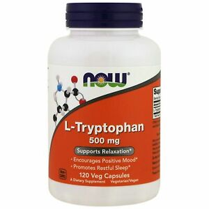 Now Foods L-Tryptophan, 500 mg  120 Veg Capsules, Stress Relief.