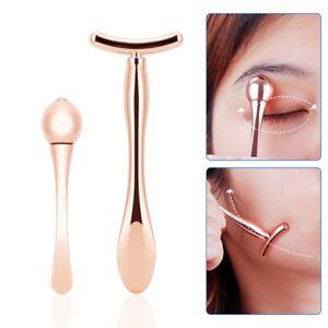 Eye Cream Massager Stick Anti Wrinkle Gold Eye Massage Wand Beauty Skin Care